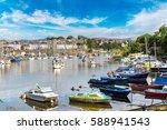 caernarfon in wales in a... | Shutterstock . vector #588941543