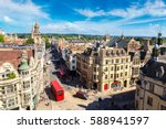 panoramic aerial view of oxford ... | Shutterstock . vector #588941597