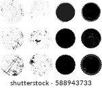 grunge post stamps collection ... | Shutterstock .eps vector #588943733