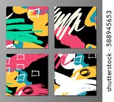 set of creative universal art... | Shutterstock .eps vector #588945653