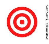 red target sign. target... | Shutterstock .eps vector #588978893