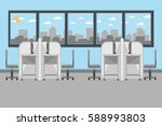 interior office room with desk... | Shutterstock .eps vector #588993803