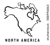 north america simple map... | Shutterstock .eps vector #588996863