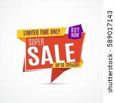 sale banner design. big set of... | Shutterstock .eps vector #589017143