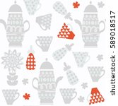 kettle  seamless pattern. it is ... | Shutterstock .eps vector #589018517