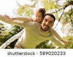 family  parenthood  fatherhood... | Shutterstock . vector #589020233