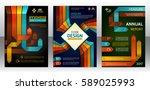 abstract stripes vector... | Shutterstock .eps vector #589025993