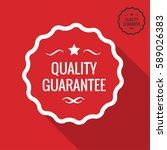 quality guarantee label  vector ...   Shutterstock .eps vector #589026383