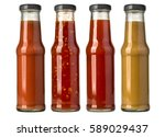 the various barbecue sauces in... | Shutterstock . vector #589029437
