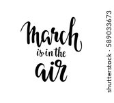 march is in the air hand drawn... | Shutterstock .eps vector #589033673