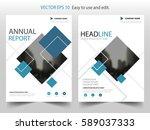 blue black square vector... | Shutterstock .eps vector #589037333