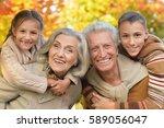 portrait of grandparents with...   Shutterstock . vector #589056047