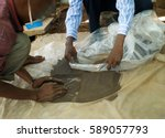 Small photo of Packing coltan after milling in DRC Congo