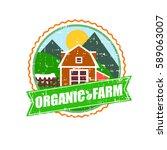 farm house concept logo.... | Shutterstock .eps vector #589063007