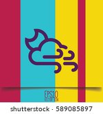 weather icon. flat style for... | Shutterstock .eps vector #589085897