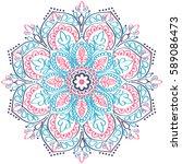 ethnic mandala ornament.... | Shutterstock .eps vector #589086473