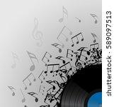 illustration of vinyl record... | Shutterstock .eps vector #589097513