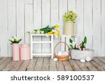 Vintage Easter Decoration With...
