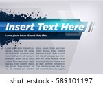 modern layout title design blue ... | Shutterstock .eps vector #589101197