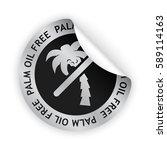 vector white bent sticker with... | Shutterstock .eps vector #589114163