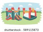 vector cartoonfunny... | Shutterstock .eps vector #589115873