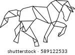 origami horse | Shutterstock .eps vector #589122533