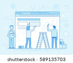 vector illustration in trendy... | Shutterstock .eps vector #589135703