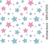 pastel colorful star pink blue... | Shutterstock .eps vector #589137053