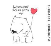 international polar bear day.   Shutterstock .eps vector #589145543