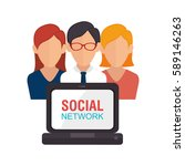 community social network icon   Shutterstock .eps vector #589146263