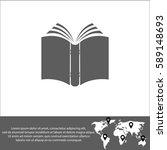 book vector  icon | Shutterstock .eps vector #589148693