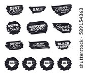 ink brush sale stripes and... | Shutterstock . vector #589154363