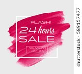 sale special '24 hours' sign... | Shutterstock .eps vector #589157477