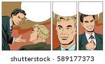 stock illustration. people in... | Shutterstock .eps vector #589177373