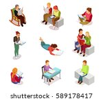 colored and isolated isometirc... | Shutterstock .eps vector #589178417