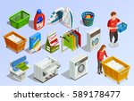 laundry isometric dry cleaning... | Shutterstock .eps vector #589178477