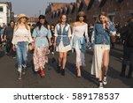 milan  italy   february 22 ... | Shutterstock . vector #589178537