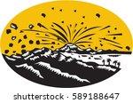 illustration of a volcano... | Shutterstock .eps vector #589188647