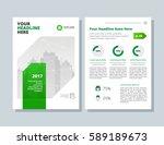 annual report  broshure  flyer  ... | Shutterstock .eps vector #589189673