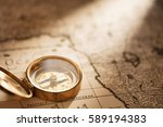 compass on old map | Shutterstock . vector #589194383
