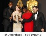 viola davis  casey affleck ... | Shutterstock . vector #589198043