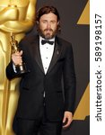 casey affleck at the 89th... | Shutterstock . vector #589198157