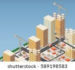isometric 3d illustration of... | Shutterstock .eps vector #589198583