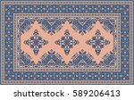 Blue And Pink Oriental Mosaic...