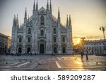 duomo cathedral at sunrise ...   Shutterstock . vector #589209287