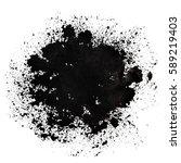 stain of spilt black paint.... | Shutterstock . vector #589219403