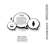 vector modern halftone bubble... | Shutterstock .eps vector #589223333