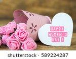 happy women's day card   Shutterstock . vector #589224287