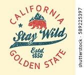 california vintage typography ... | Shutterstock .eps vector #589225397
