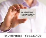closeup on businessman holding... | Shutterstock . vector #589231403
